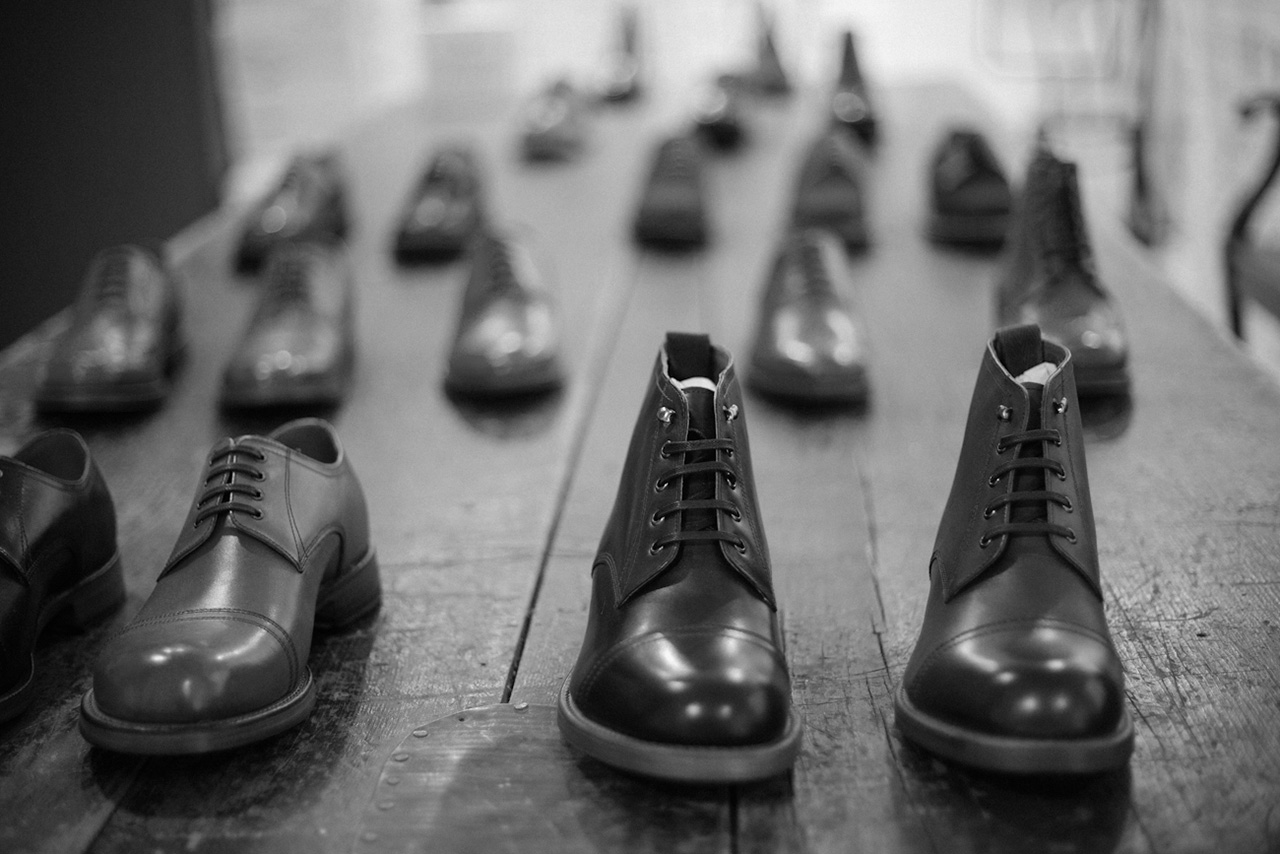 freemans sporting club x grenson pop up store