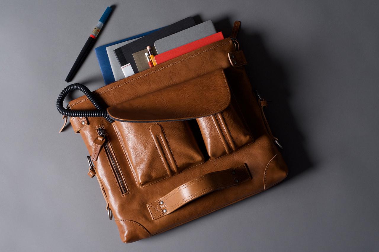 hard graft 2Pack Leather Messenger