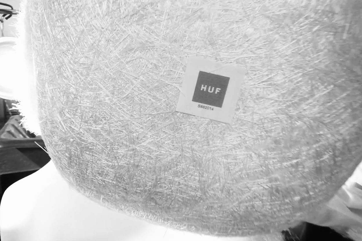HUF x Modernica Green Fiberglass Shell Chair