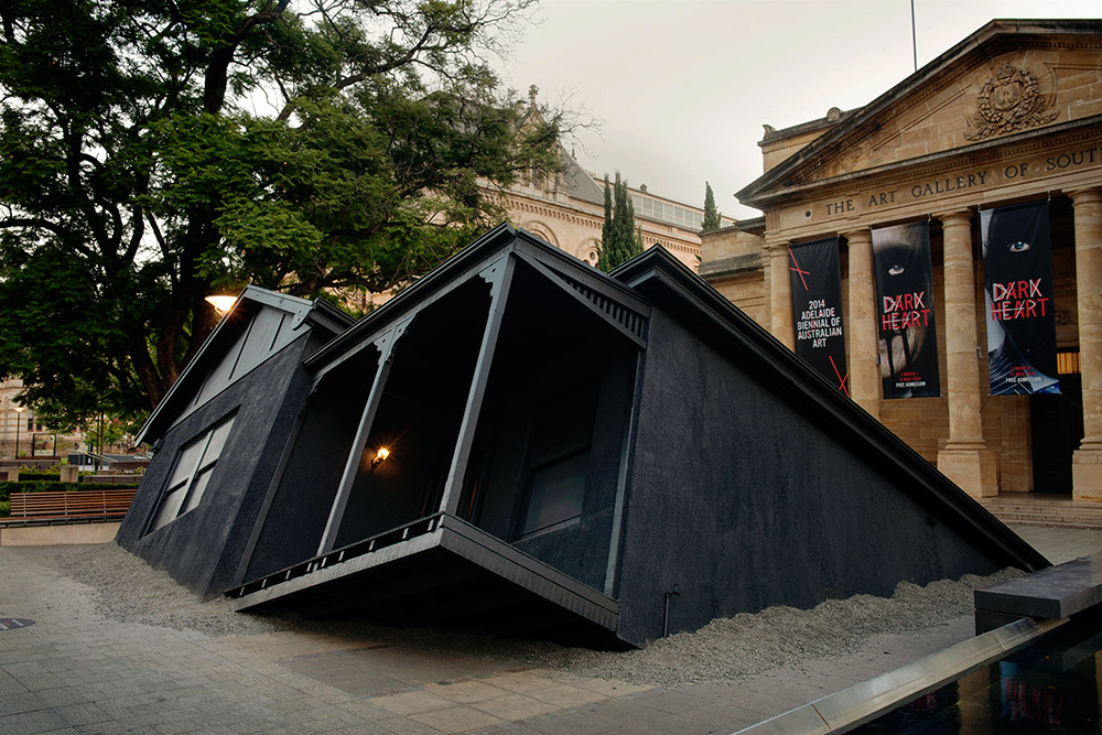 ian strange landed installation the art gallery of south australia