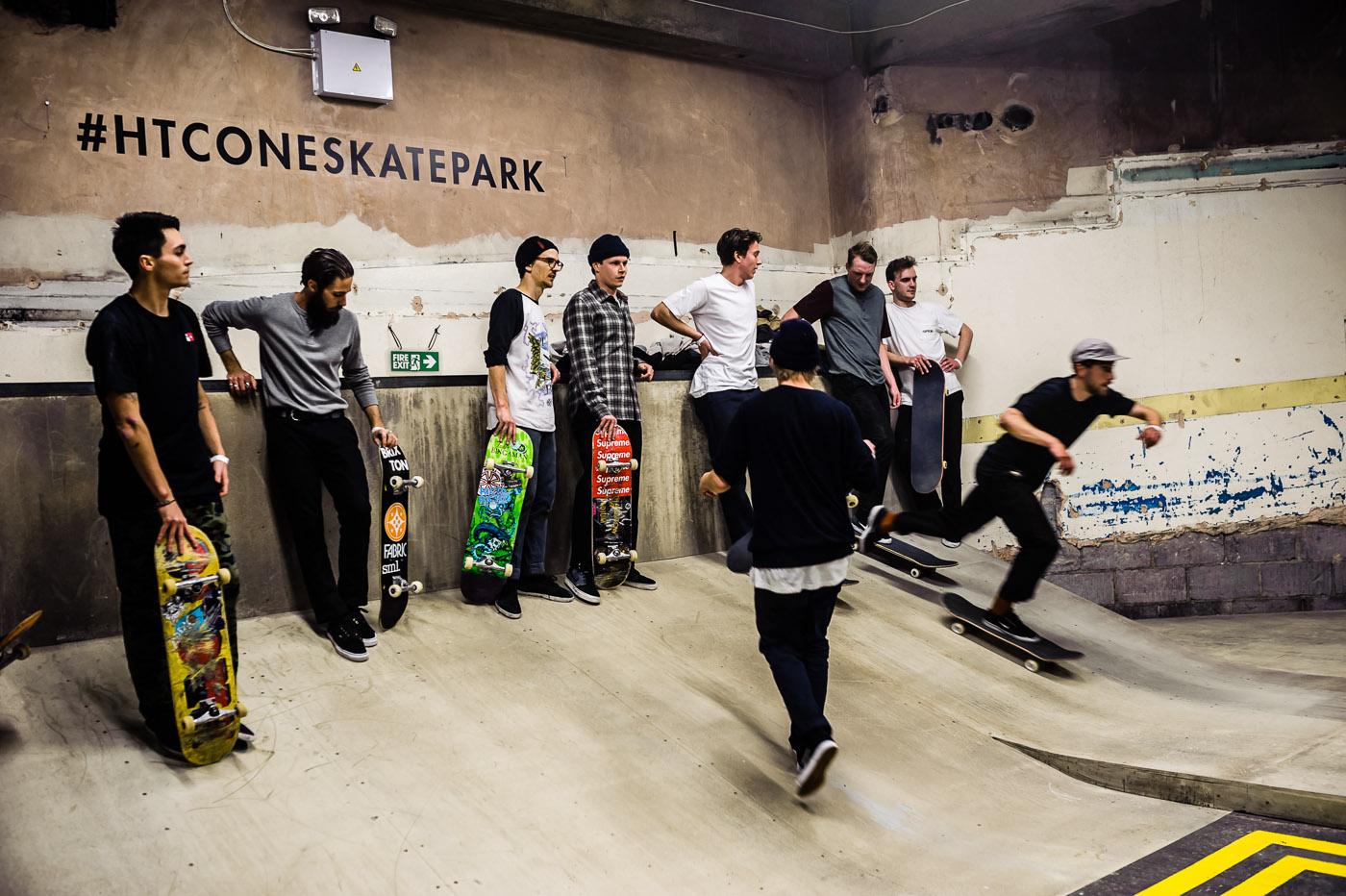 inside the htc one skatepark at selfridges