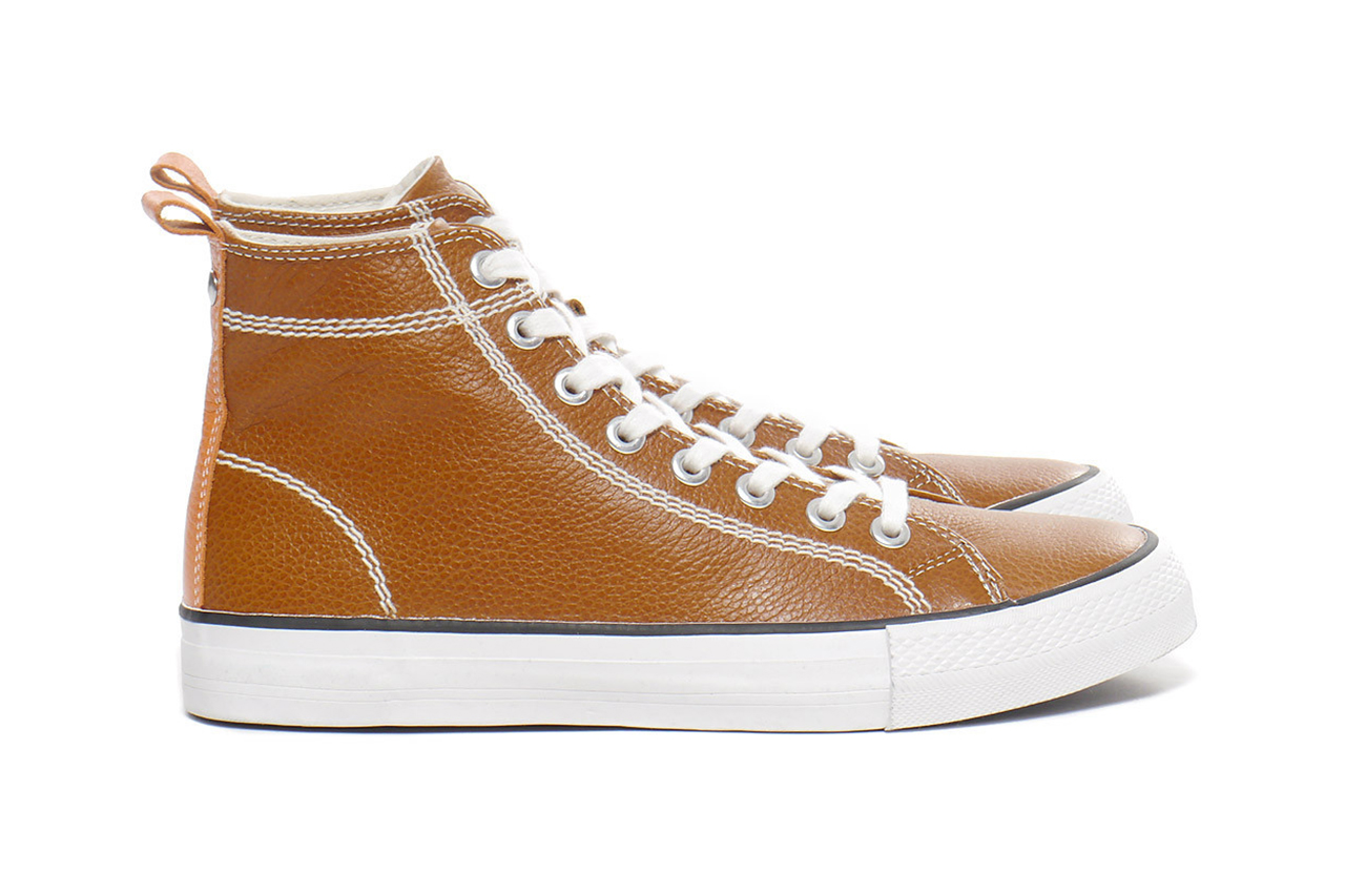 junya watanabe man cowhide leather high top sneakers