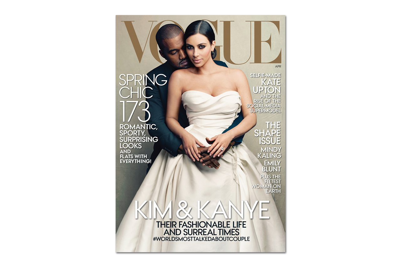 Kanye West & Kim Kardashian Cover Vogue's 2014 April Issue