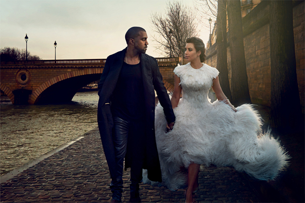 vogue featuring kim kanye inside images and cover story