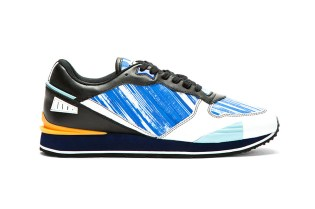 KENZO Blue High Wave Canvas Low Top
