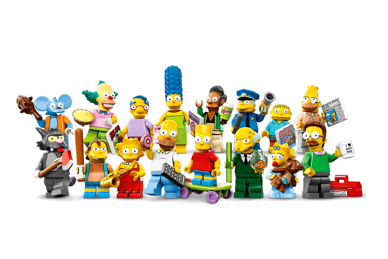 lego the simpsons minifigure collection