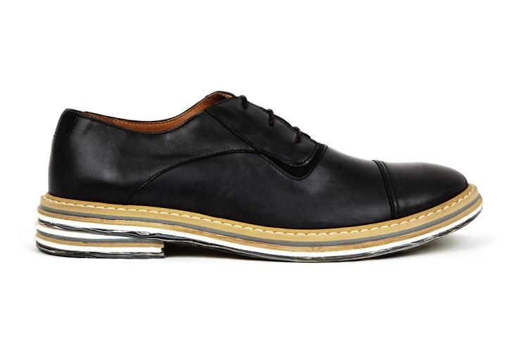 Maison Martin Margiela Black Marble Sole Derby Shoes