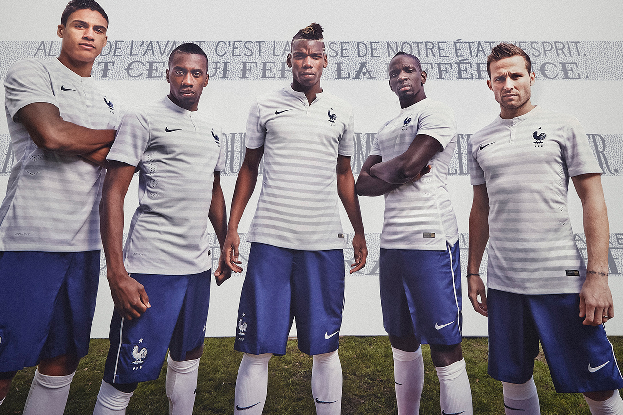 nike 2014 french football federation kit sees the return of the mariniere design