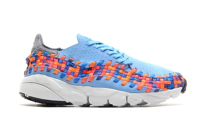 nike air footscape woven motion university blue prize blue atomic orange