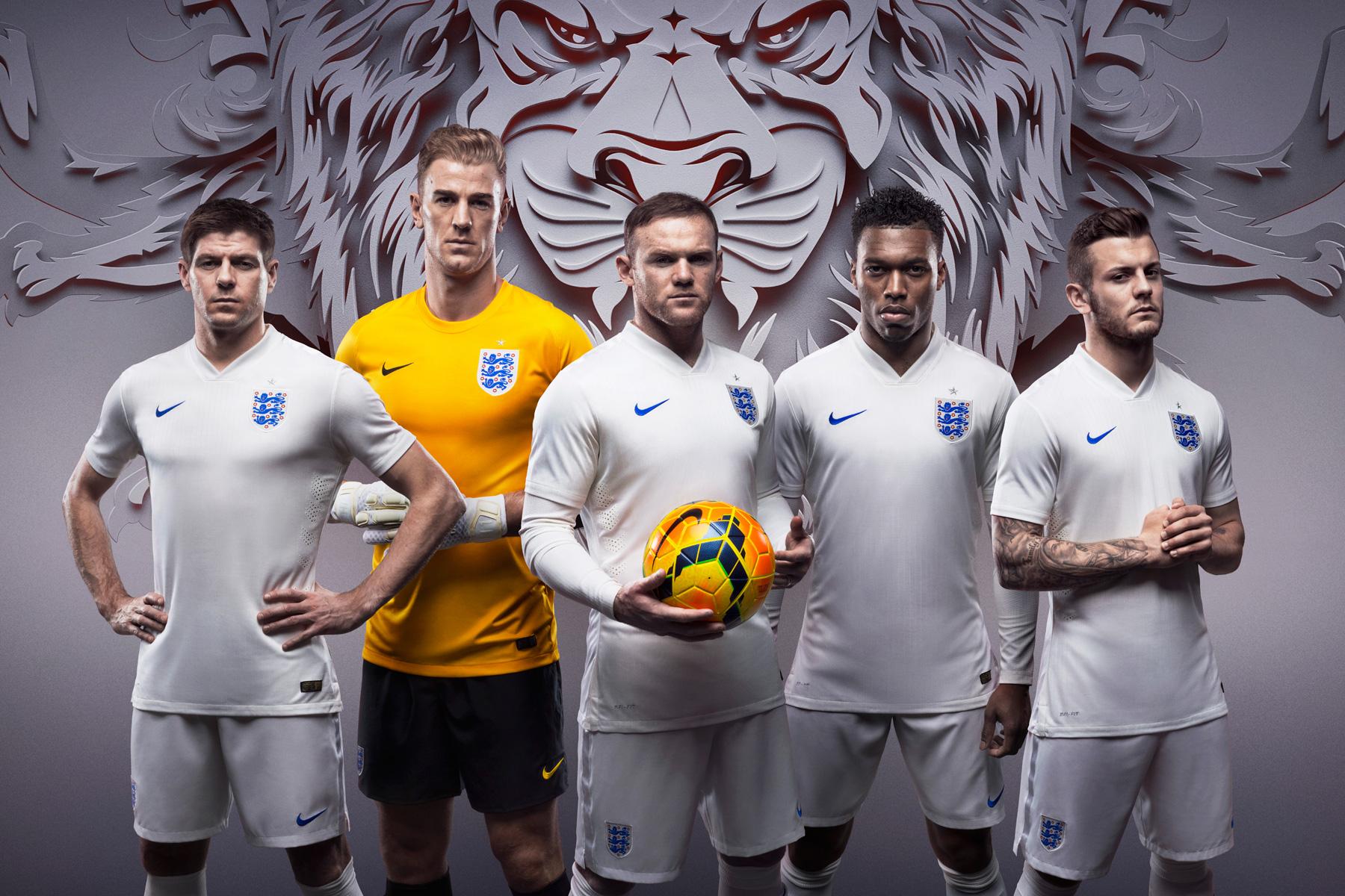 Nike Debuts England's New Home and Away Kits for 2014