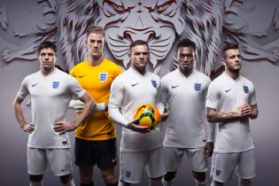 Nike Debuts England's New Home and Away Kits for 2014