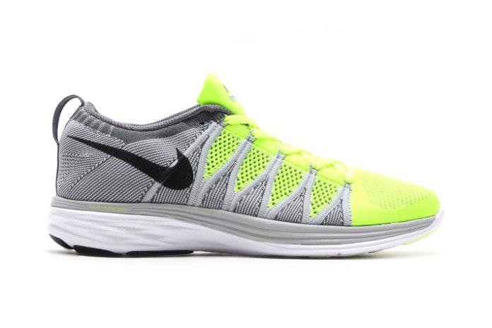 Nike Flyknit Lunar2 Volt/Black-Wolf Grey-Dark Grey