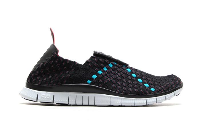 Nike Free Woven 4.0 Black/Light Crimson-Turbo Green-Military Blue