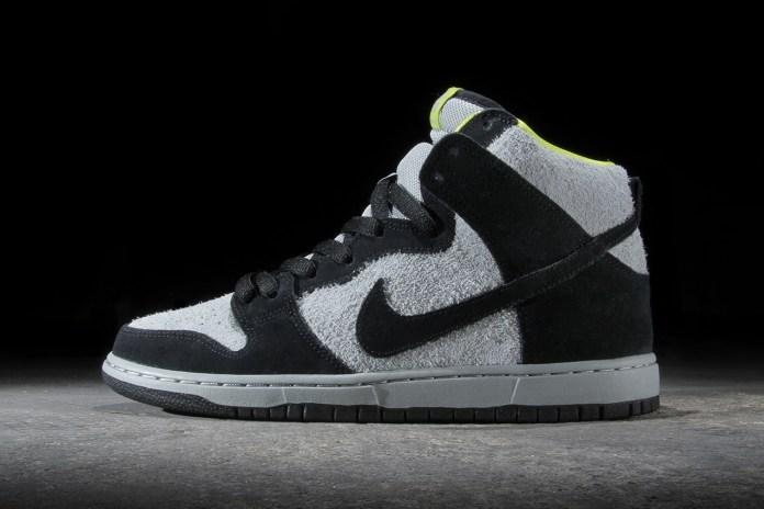 Nike SB Dunk High Pro Black/Base Grey-Venom Green