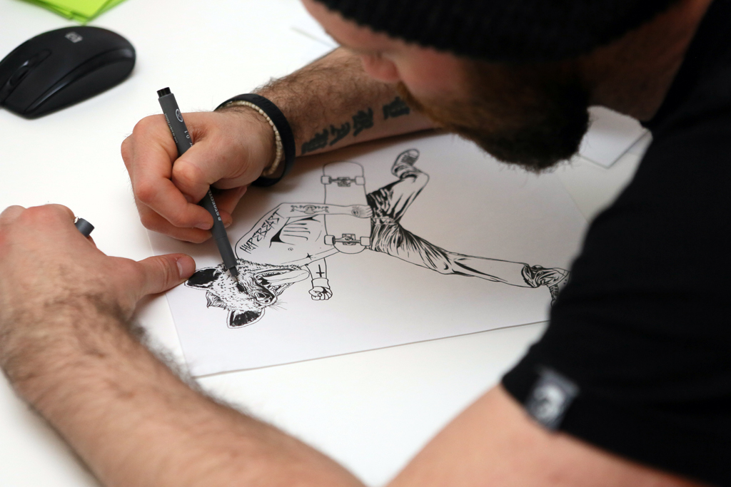red bull curates protege hypebeast presents pen paper with rugman