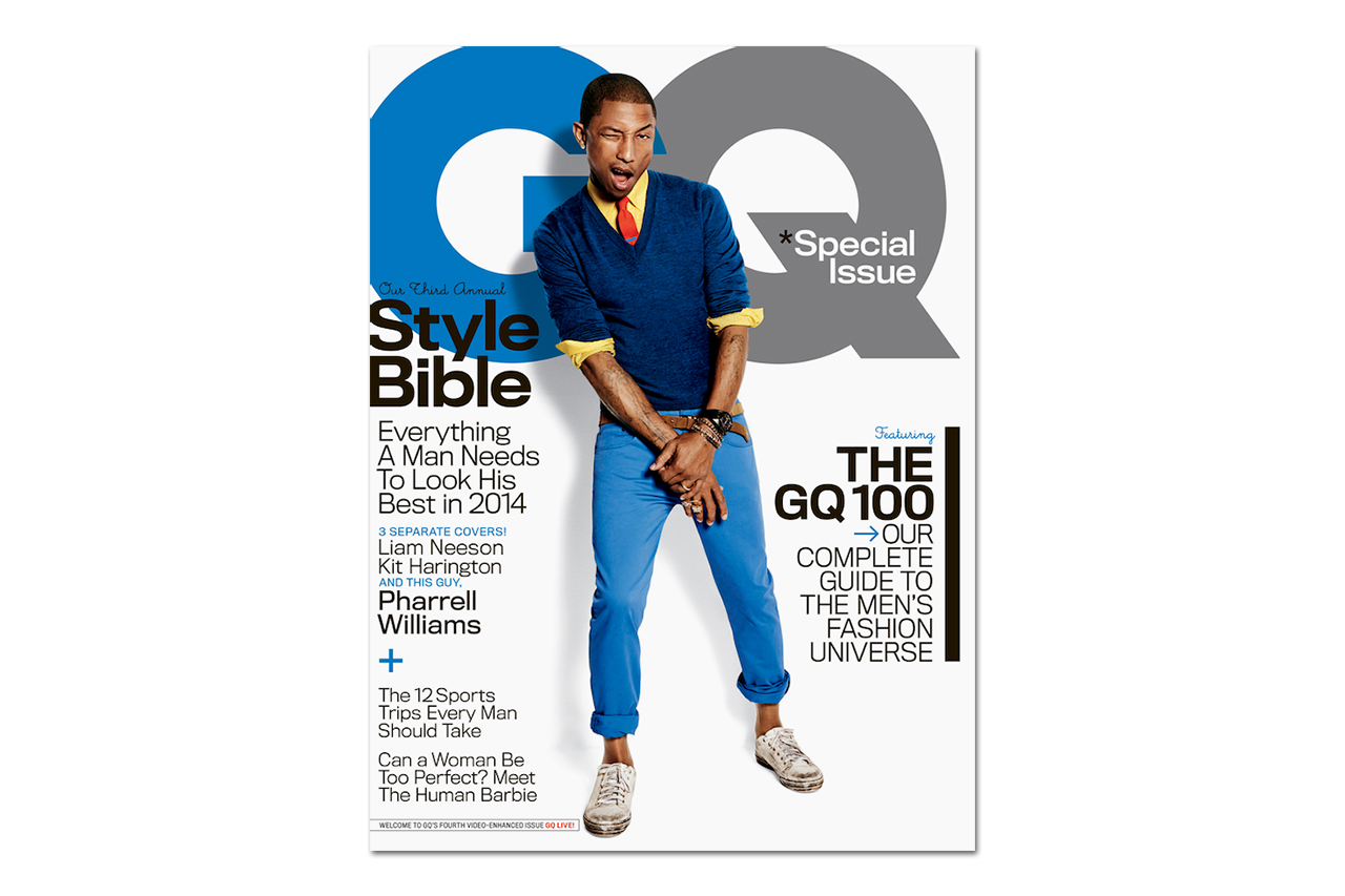 Pharrell Covers GQ's 2014 April Issue