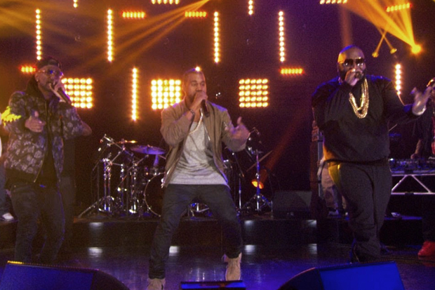 Rick Ross featuring Kanye West & Big Sean - Sanctified (Live on Arsenio)