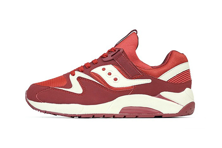 saucony 2014 spring grid 9000 red white