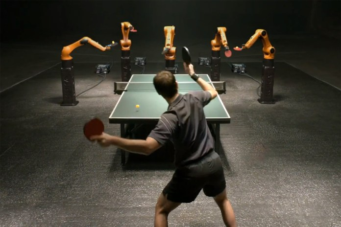 Timo Boll Takes on the KUKA KR AGILUS in Ping-Pong
