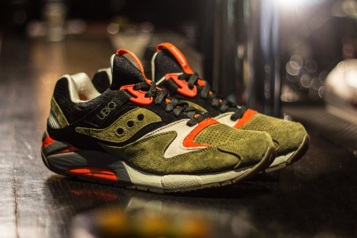 "UBIQ x Saucony ""Dirty Martini"" Grid 9000"