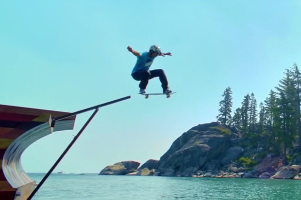 Watch Bob Burnquist Skate a Floating Ramp