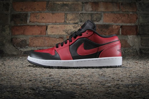 Air Jordan 1 Low Black/Gym Red-White