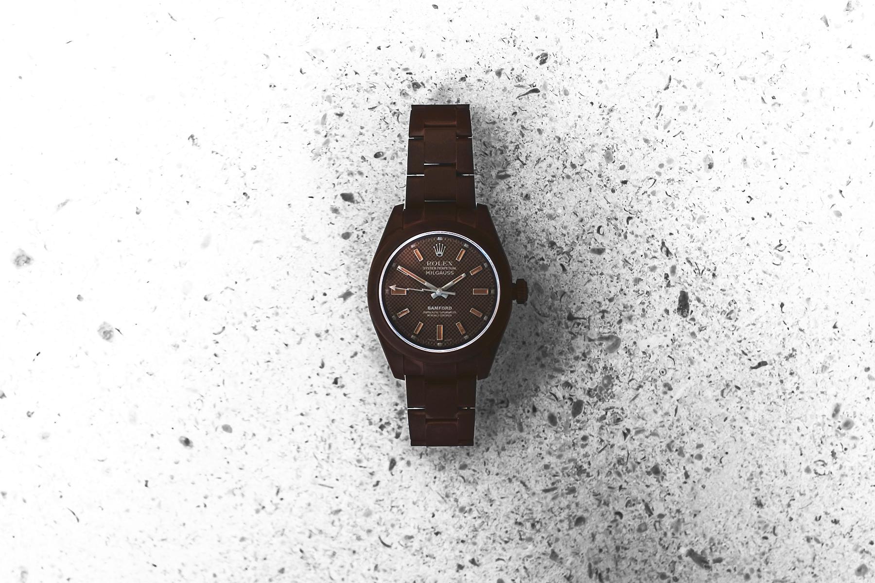 "Bamford Watch Department Rolex ""Chocolate"" Milgauss"