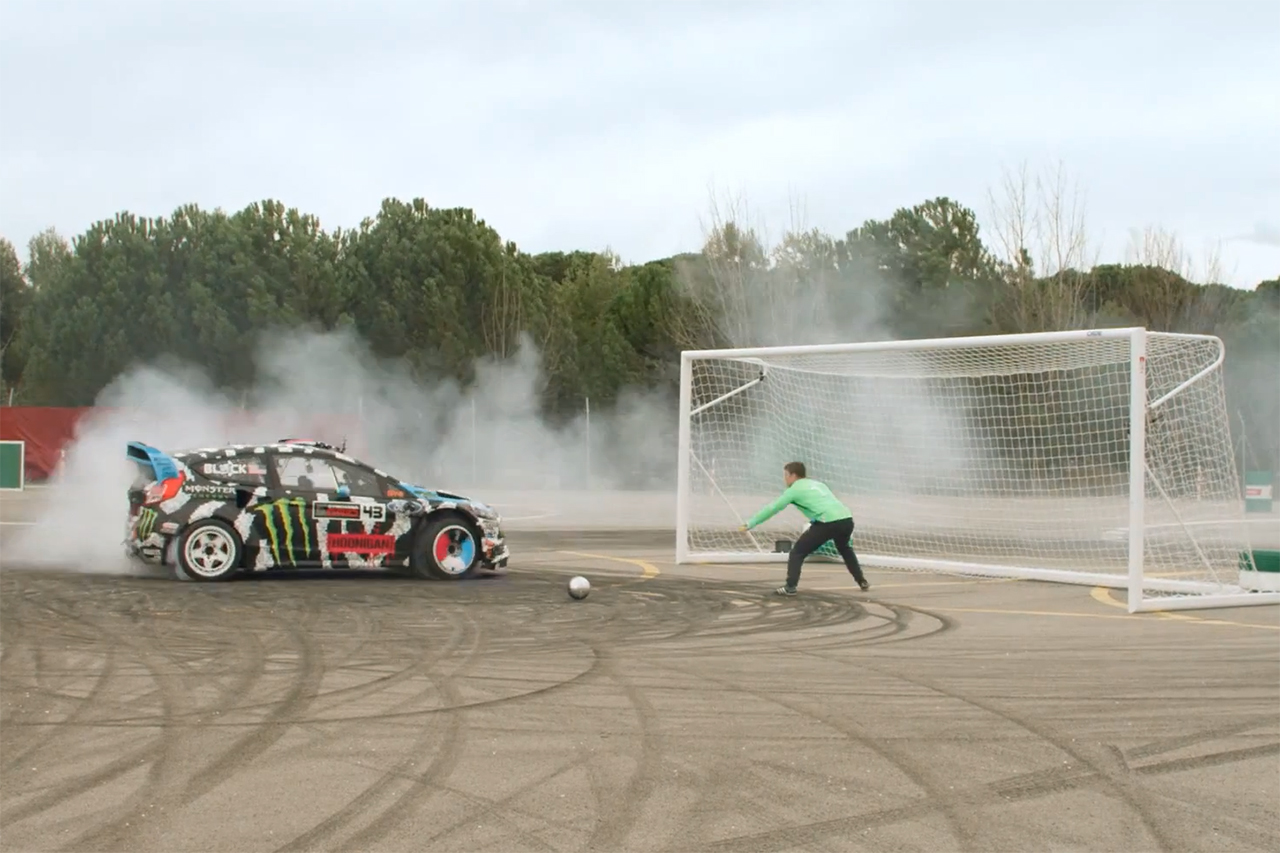 "Castrol's ""Footkhana"" Pits Neymar Against Ken Block"