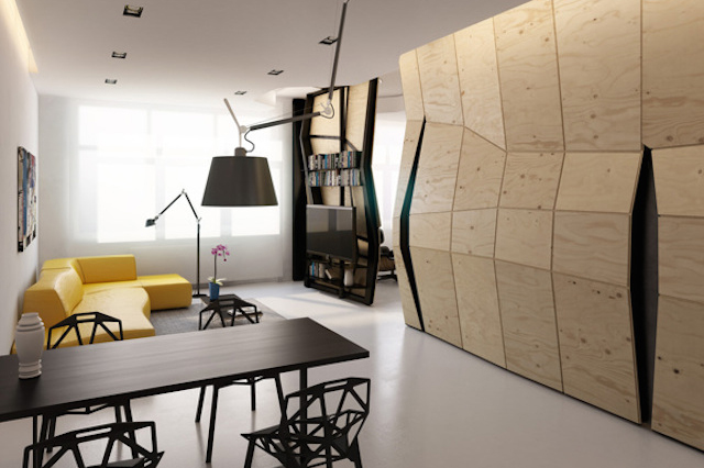 Deformed Design Interior Space by Vlad Mishin