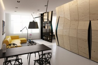 Deformed Design Interior Space by Vlad Mishin