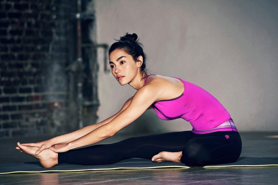 Descente Women's Training 2014 Spring/Summer Lookbook featuring Adrianne Ho