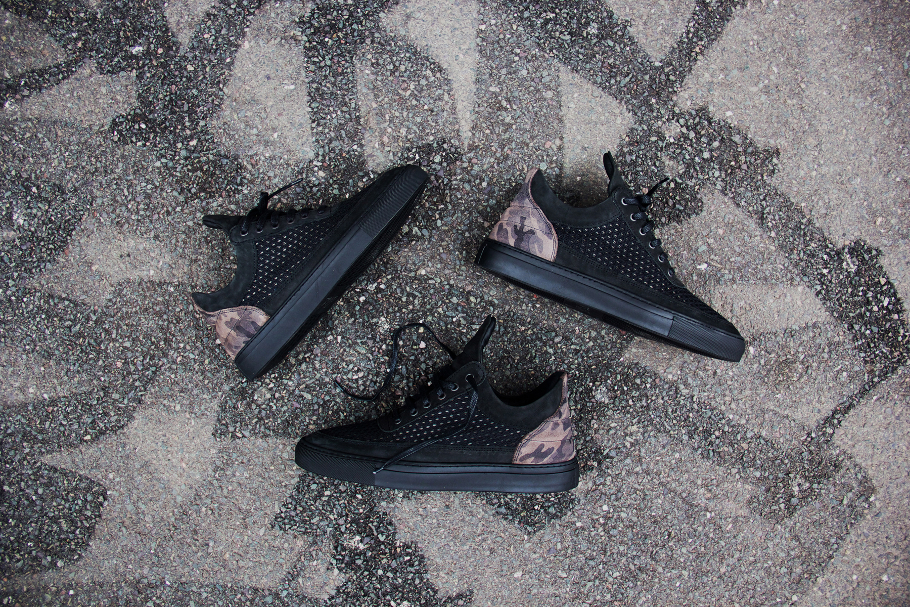 filling pieces low top black 3m