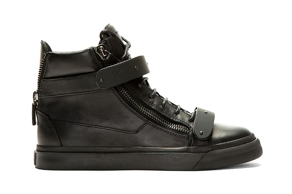 Giuseppe Zanotti Black-Out Matte Leather London Sneaker