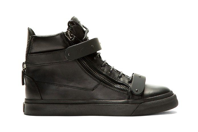 Giuseppe Zanotti Black-Out Matte Leather London Sneaker
