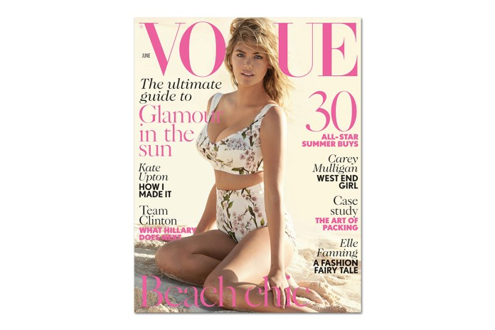 Kate Upton by Mario Testino for British Vogue