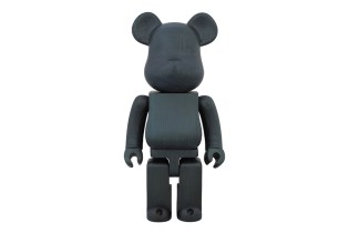 Karimoku x Medicom Toy Indigo Paint 400% Bearbrick