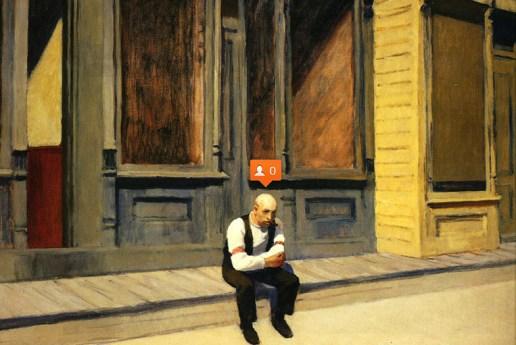 Nastya Nudnik Adds Social Media Symbols to Paintings