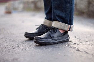 "New England Outerwear Co. 3 Eye Boat Shoe ""Blacked Out"""