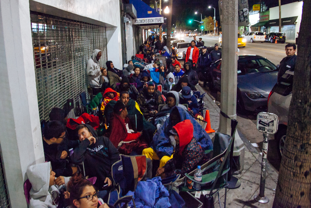 the nike foamposite campout at supreme los angeles