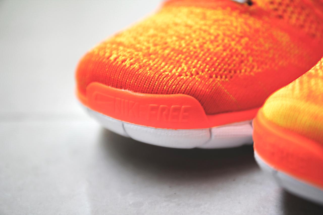 Nike Free Flyknit Chukka Orange/Volt