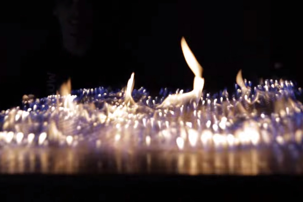 Pyro Board: An Audio Visualizer Made of Flames
