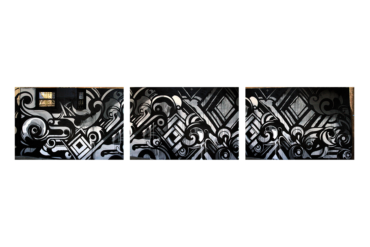 Reyes Transforms Haight Street Wall for Black Scale