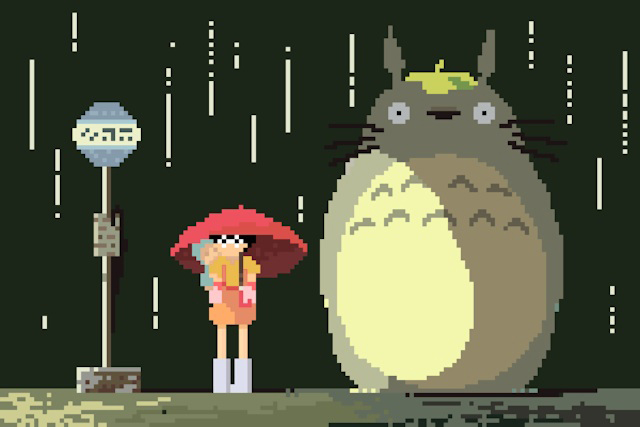 Richard J. Evans Reimagines the Studio Ghibli Universe in 8-Bit