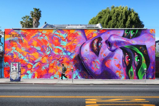 The Hundreds x MADSTEEZ Mural On Melrose Los Angeles