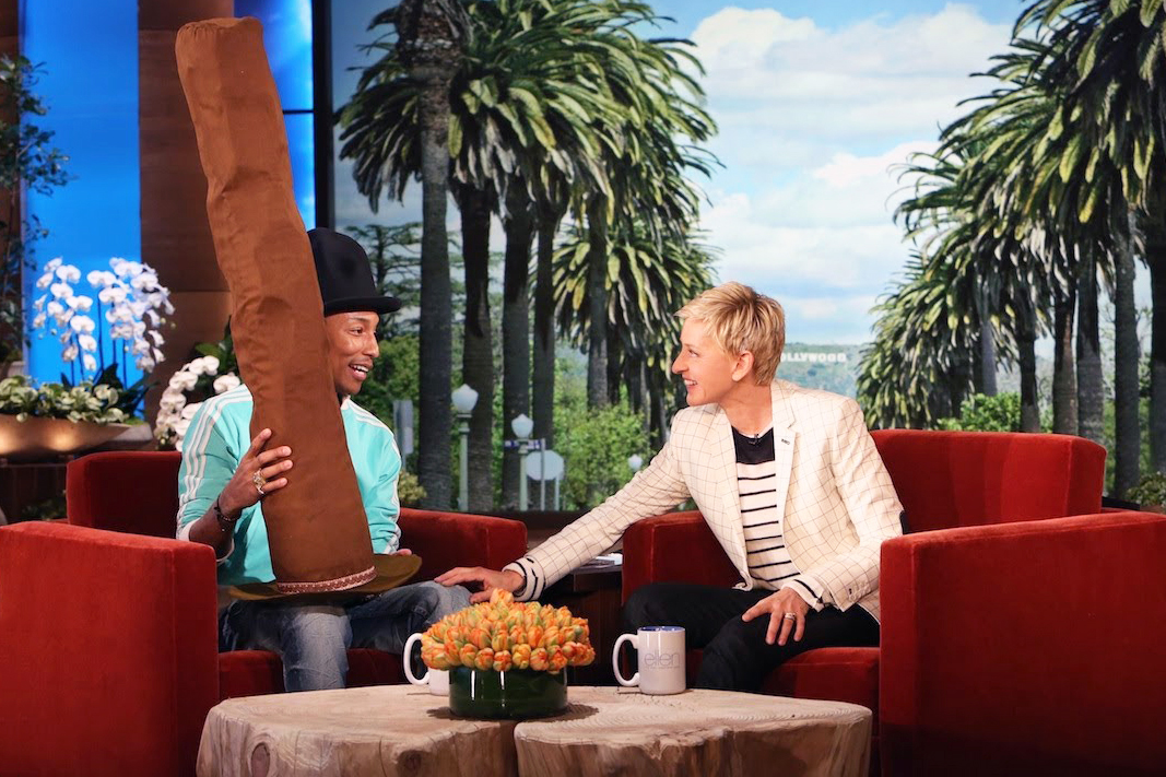 Watch Pharrell's Interview On 'The Ellen DeGeneres Show'