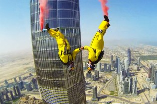 Watch This Record-Breaking BASE Jump from the World's Tallest Building