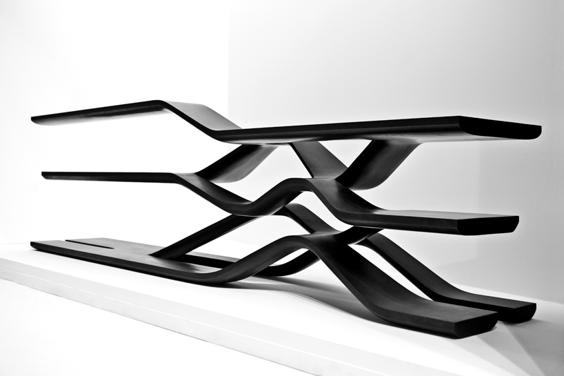 zaha hadid granite marble furniture collection for citco