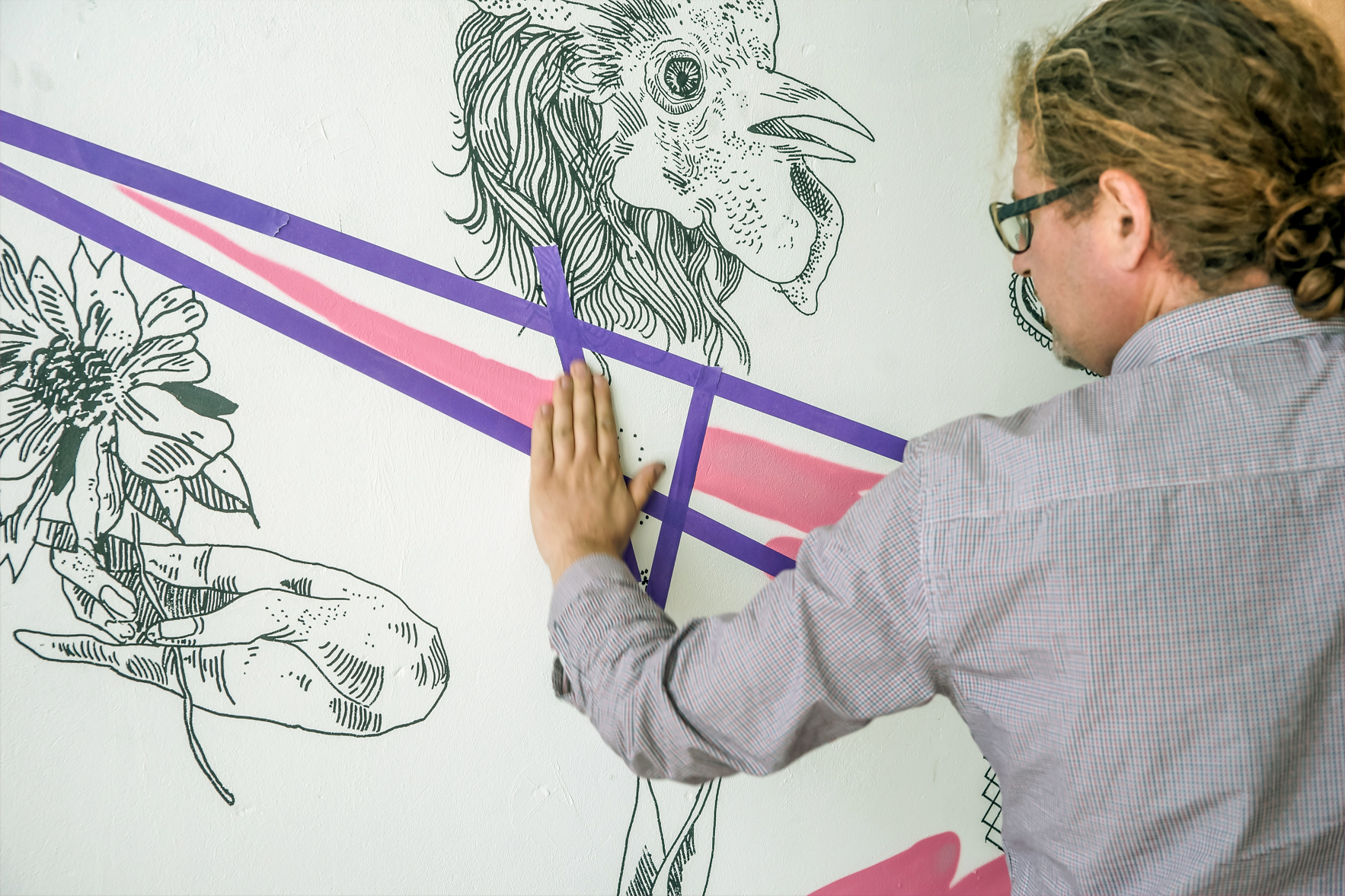 8 Dutch Artists Transform Canal House for Converse Clash Wall Amsterdam