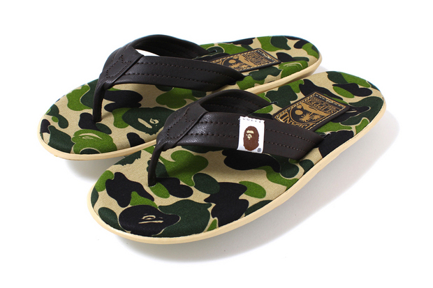A Bathing Ape x Island Slipper ABC Thong Sandals