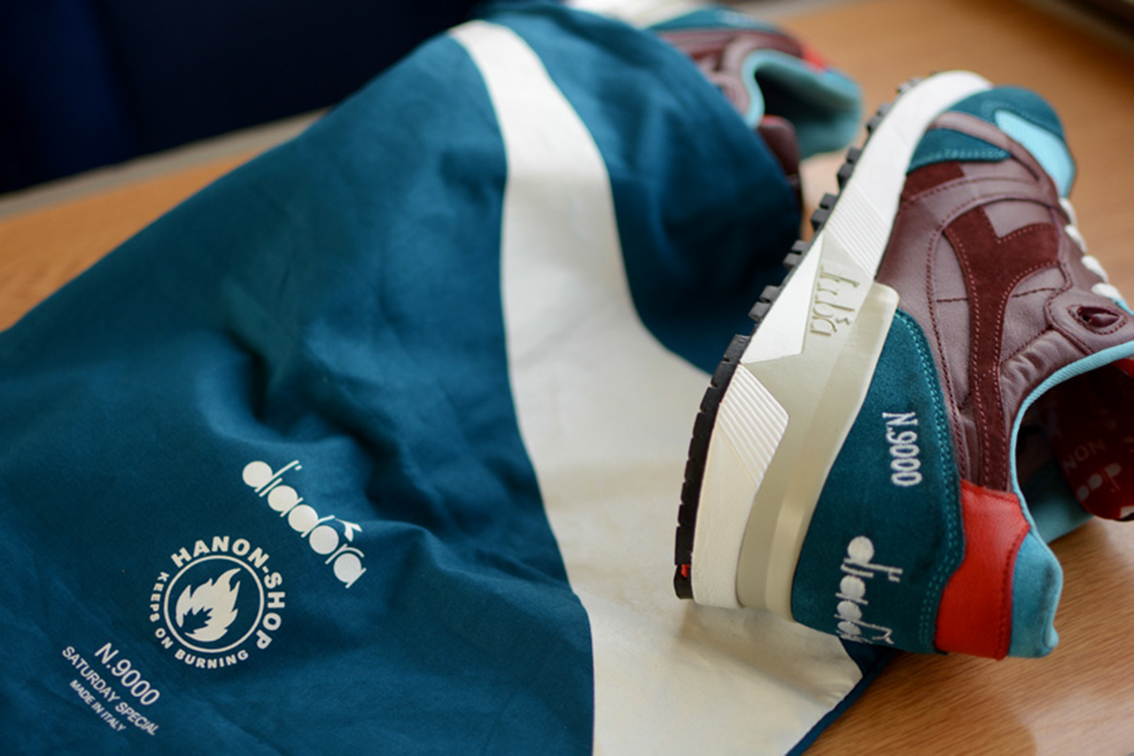 a closer look at the hanon x diadora n 9000 saturday special